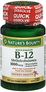 Cheap Nature's Bounty B-12 1000 mcg Microlozenges 60 ea (Pack of 2)