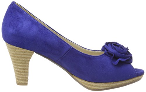 014 Conti Andrea 0733109 Escarpins Femme Kobalt Bout Bleu Ouvert ZqagwTE