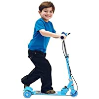 Anukmpa Kids 3 Wheel Foldable Scooter with Height Adjustment & Led Light on Wheel(Break and Bell) Multi Color
