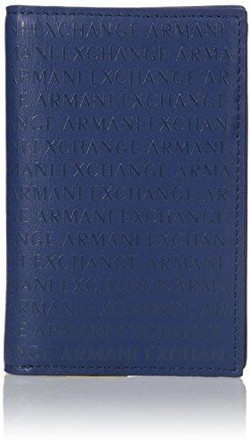 Armani Exchange Men's Laser Logo Folding Cardcase Accessory, -deep blue, - Credit Armani Exchange Card