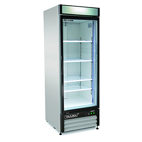 DUURA DGMW23R X-Series Glass Door Merchandiser Refrigerator, Stainless Steel (Discontinued by Manufacturer)