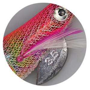 BMIETE Squid Jig Size 3.0# Saltwater Fishing 6 Pcs Artificial Baits Kit Bionic 3D Eyes Fake Plastic Shrimp Octopus Cuttlefish Fish HooksPrawn Glow Bait