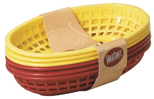 Tablecraft 6 Piece Assorted Sandwich & Fry Basket