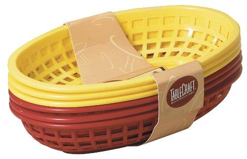 Tablecraft 6 Piece Assorted Sandwich & Fry Basket