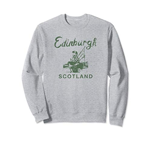 Scottish Bagpipes Edinburgh SCOTLAND Vintage Graphic Sweatshirt