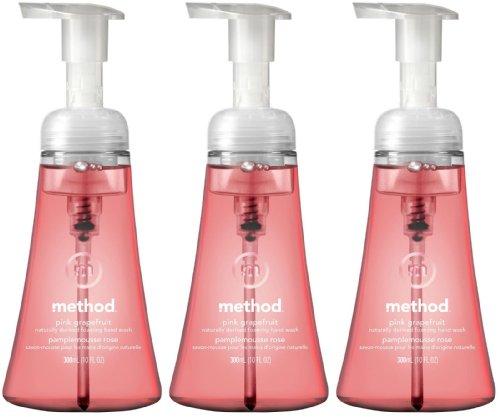 Method Foaming Hand Wash, Pink Grapefruit, 10oz, 3pk
