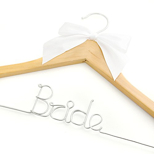 Wedding Hanger, Wedding Photos, Bridal, Wire Hanger with Ribbon, Bride Hanger, Bride Party Hangers, Wire Hangers