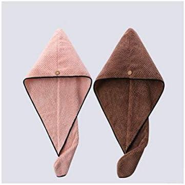 CQIANG 傑李雅ドライヘアーキャップ、強い吸収性と速乾性キャップ、大人肥厚シャワーキャップ、フード付きの髪、ドライヘアータオル2ロードされました (Color : C)