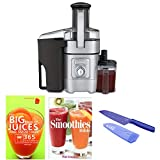 Cuisinart CJE-1000 1000-Watt 5-Speed Die-Cast Juice Extractor Includes Small Knife and Two Cookbooks (Certified Refurbished)