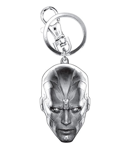 Marvel Avengers 2 Vision Head Pewter Key Ring Action Figure ()