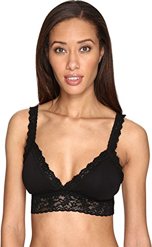 Hanky Panky Women's Cotton with A Conscience Padded Bralette Black Small