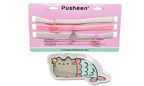 Pusheen Mermaid Tray Velvet Charm Choker Necklace Set by Pusheen (Image #5)