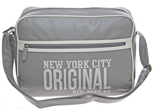 Moderna escolar y bolsa de deporte Bolso de hombro bolsa de viaje Bolso Hombres señor de vuelo compañero funda/bandolera Messenger Bag gris