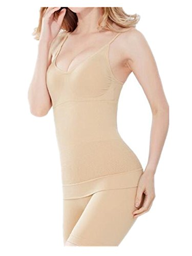 (Leright Women's Full Control Slip Bodysuit Firm Control Body Shaping Cami Slip, Nude, Free Size fits for XS-L)