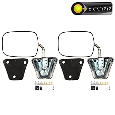 ECCPP Pair Set For 1973-91 Chevy/Chevrolet GMC Jimmy Suburban C10 20 30/C/K1500 2500 3500/C15 25 35 Manual Stainless Mount Folding Chrome Side - 1977 Gmc Van