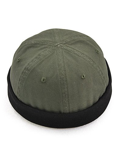Green One-Size ZYT Hombre Todas Las Temporadas Vintage Casual Algod/ón Gorro Boina Francesa Bomb/ín//Cloche Sombrero Fedora Sombrero Floppy Sombrero de Ski