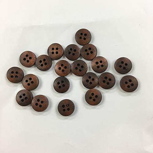 20個入◆ウッドボタン◆木のボタン◆手芸◆裁縫◆12㎜◆4穴