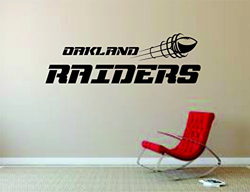Oakland Raiders Wall Mural Vinyl Decal Sticker Decor NFL Football Rugby Logo