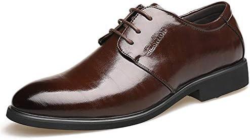 レースアップ合成皮革ビーガンスムーズイージーケアヴァンプビジネスオックスフォード用男性フォーマルドレス作業パーティー結婚式の靴 快適な男性のために設計