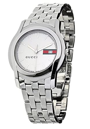 fc7ed1d3b75 Amazon.com  Gucci 5500 Series Steel Mens Watch YA055201  Watches