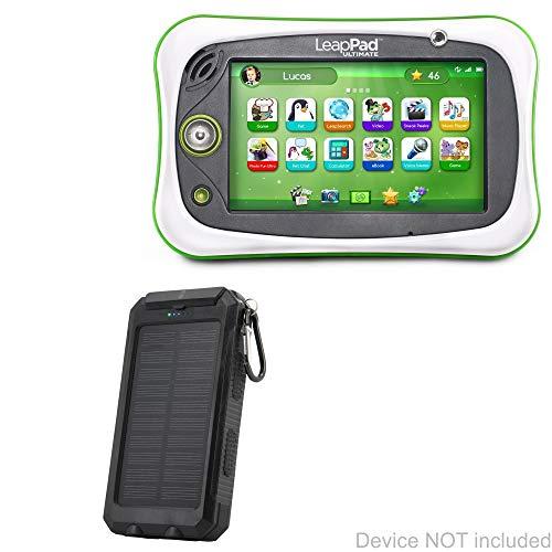 (BoxWave Leapfrog LeapPad Ultimate Battery, [Solar Rejuva PowerPack (6000mAh)] Solar Powered Backup Power Bank for Leapfrog LeapPad Ultimate - Jet Black)