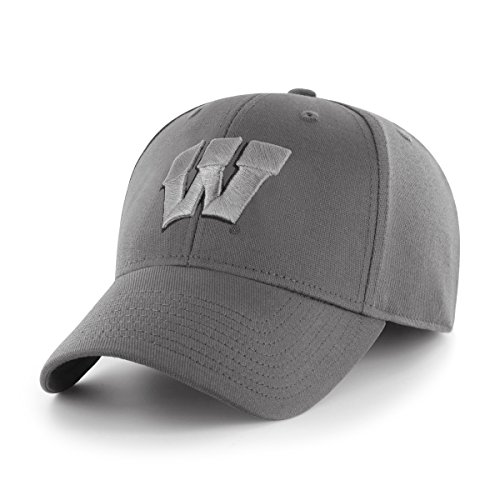 OTS NCAA Wisconsin Badgers Comer Center Stretch Fit Hat, Cha