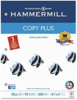product image for Copy Plus Copy Paper, 3-Hole Punch, 92 Brightness, 20lb, Ltr, White, 500 Shts/Rm, Sold as 2 Ream