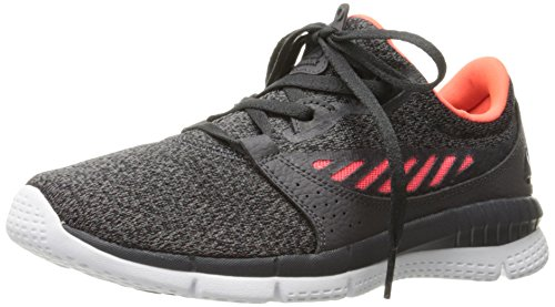 Reebok WoMen Zprint Her Elle MTM Running Shoe Ash Grey/Coal/Vitamin C/White