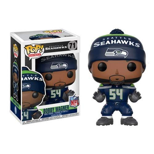 NFL Bobby Wagner Seahawks Home Wave 4 Pop! Vinyl Figure and (Bundled with Pop BOX PROTECTOR CASE)