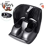 Naipo Foot Massager Calf Foldable Machine, Shiatsu Kneading Rolling Tapping and Air Compression Feet Massage with Heat, Leg Beautician Massager for Full Foot Relief at Home