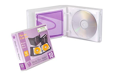 Unikeep Cd / Dvd - UniKeep Disc 10 CD/DVD Wallet with 10 Pages - Pack of 3