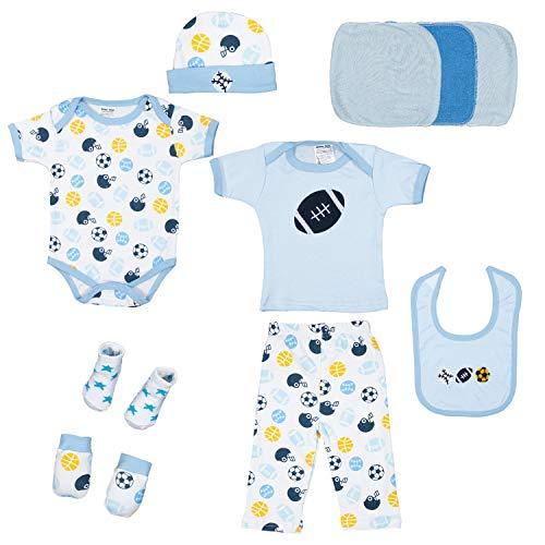 Kinbor Baby Newborn 10-Piece Essential Baby Layette Set for Boys and Girls - Newborn Baby Layette
