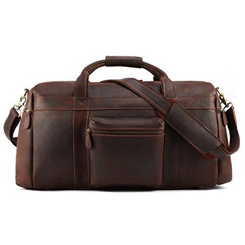 Kattee Retro Leather Duffel Bag Large Overnight Travel Bag by Kattee (Image #1)