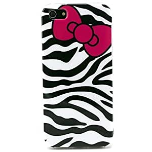 Mini - Zebra with Bow Pattern TPU Soft Case for iPhone 5/5S