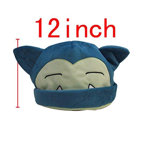 Pokemon Snorlax Cosplay Soft Cute Plush Toy Cap Warm Soft Hat Blue (Cute Snorlax Costume)