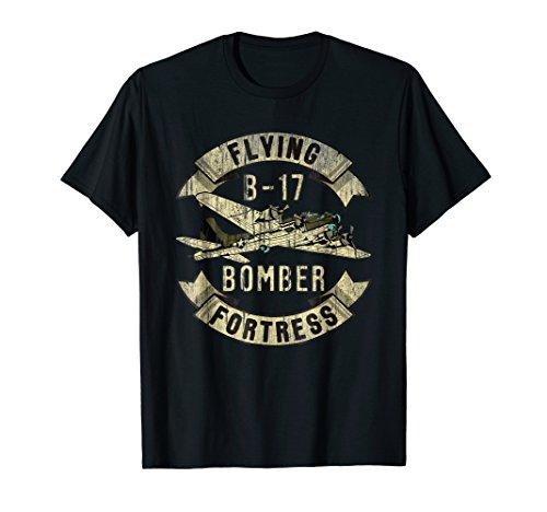 Vintage B-17 Bomber WW2 Plane Aviation Airplane Shirt Grunge