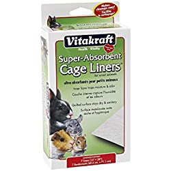 Vitakraft Super Absorbant Cage Liners for Small Animals - 7 Pack