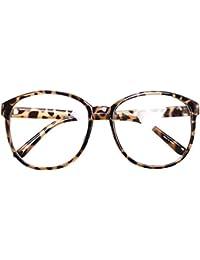 Oversized Big Round Horn Rimmed Eye Glasses Clear Lens...