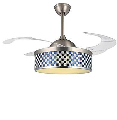 Chandelier Fan Chandelier Modern Crystal Ventilador de techo Luces ...
