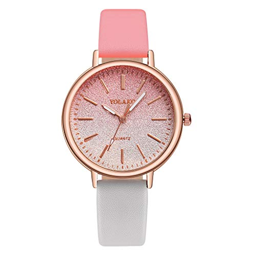 Fashion Women Watches Magnetic Buckle Creative Gradient Starry Sky Wrist Watch Leather Band Quartz Watch Birthday Gift (C, One - Kitty Square Hello Watch