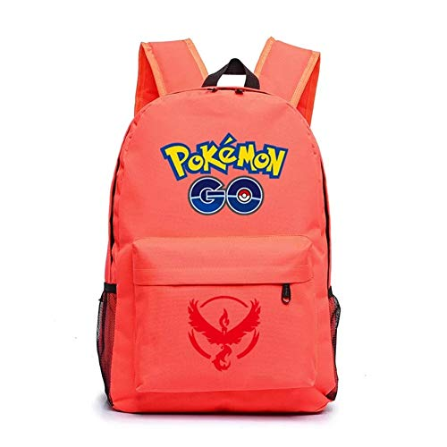 Kids Cartoon Pokémon Backpack School Rucksack Backpack for Boys Girls Moltres Red