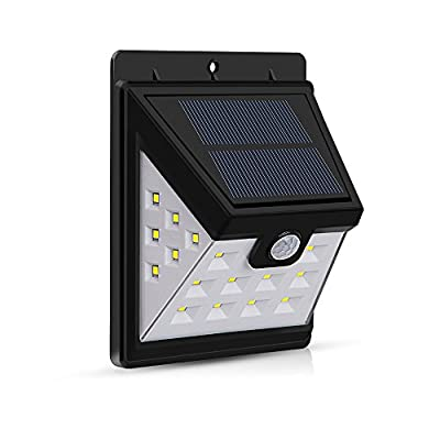 CHINFAI Solar Lights Outdoor, Wireless 22 LED Motion Sensor Waterproof Security Wall Light for Back Yard, Patio, Driveway, Deck, Step Stair, Lawn & Garden with 3 Sides Illumination Design