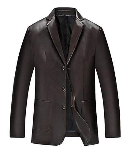 3 Button Leather Jacket - 5