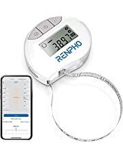 Smart Tape Measure Body with App - RENPHO Bluetooth Measuring Tapes for Body Measuring, Weight Loss, Muscle Gain, Fitness Bodybuilding, Retractable, Measures Body Part Circumferences, Inches & cm