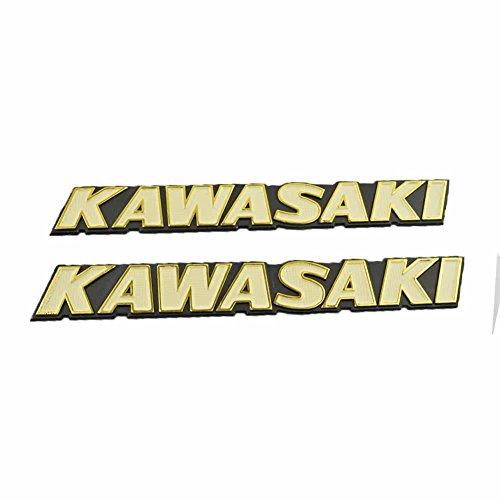 2pcs/set Motorcycle Emblem Stickers Fender Bibs tank decal sticker for Kawasaki (Green) ()