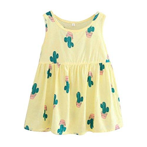 Koala Superstore [F] Kids' Pajama Home Nightdress Sleeveless Cotton Dress Vest Skirt for Girls by Koala Superstore