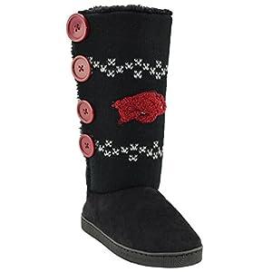 NCAA Arkansas Razorbacks Women's Button Up Stadium Boots, X-Large, Black