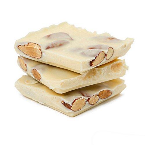 Asher Chocolate Almond Bark - 1 Pound (White (Chocolate Coated Almonds)