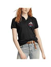 Fitnesspolo Shirtswomen Girls Textbook World Teachers Day Cotton Polo Short SleeveDesigner Performance Base Layer Polo Collared Shirt