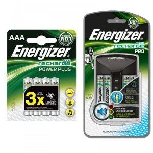 Energizer Accu Recharge cargador de pilas con 4 AA 2000 mAh + 4 x 850 mAh pilas AAA